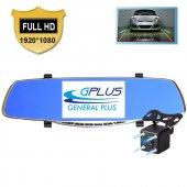 GP50HD 5 inç IPS Ekran Türkçe Metal Dikiz Ayna Araç Kamerası Geri Görüş Kamerası -9