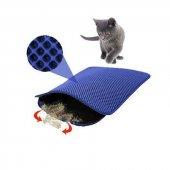 Mia Cat Elekli Kedi Tuvalet Önü Paspası 60 X 45 Cm Lacivert