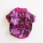 Pink Letters Oval Yaka Tişört Kedi Kıyafeti  Kedi Elbisesi-3