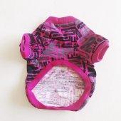 Pink Letters Oval Yaka Tişört Kedi Kıyafeti  Kedi Elbisesi-4