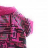 Pink Letters Oval Yaka Tişört Kedi Kıyafeti  Kedi Elbisesi-5