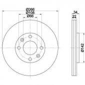 Citroen C5 Ön Fren Disk Cey (4249g1)