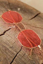 Pembe Renk Retro Rose Metal Çerçeveli Güneş Gözlüğü