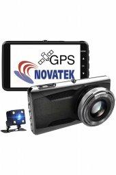 NT402G Novatek FCWS LDWS GPS Çift Yön Araç Kamerası Geri Görüş Kamerası
