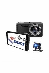 NT402G Novatek FCWS LDWS GPS Çift Yön Araç Kamerası Geri Görüş Kamerası-2