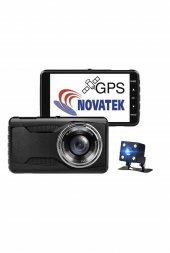 NT402G Novatek FCWS LDWS GPS Çift Yön Araç Kamerası Geri Görüş Kamerası-3