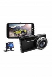 NT402G Novatek FCWS LDWS GPS Çift Yön Araç Kamerası Geri Görüş Kamerası-4