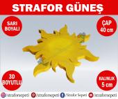 Strafor Sepeti - Strafor Güneş Çap 40 cm Boyalı, Strafor Dekor, Strafor Parti, Strafor Doğum Günü