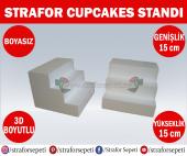 Strafor Sepeti - Strafor Cupcakes Standı 15 cm x 15 cm x 15 cm (2 adet), Strafor Dekor, Strafor Parti, Strafor Doğum Günü