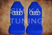 Audi Sax Mavi Renk Ön Arka Koltuk Penye Kılıf 1 Sticker Hediye