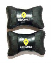 Reno Renault Deri Boyun Yastığı 2 Li Fermuar Ve Arkası Lastik El