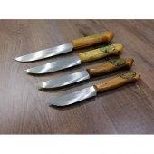 4 ADET 26-24-21-19 cm 4 ADETSet Orjinal Meşhur Osmaniye Dövme Çelik Bıçak-2