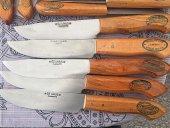 4 ADET 26-24-21-19 cm 4 ADETSet Orjinal Meşhur Osmaniye Dövme Çelik Bıçak-3