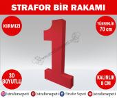 Strafor Sepeti - Strafor 1 Rakamı 70 cm Kırmızı Bir, Strafor Dekor, Strafor Parti, Strafor Doğum Günü