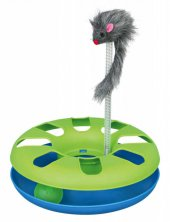 Trixie Kedi Oyuncağı, Peluş Fareli Daire 24X29cm-2