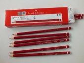 Faber Castell 12' Li Mercanlı Kırmızı Kalem