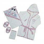 Kız Bebek Gözlüklü Filli 5li Bornoz Set 0 6 Ay Pembe C72301 1
