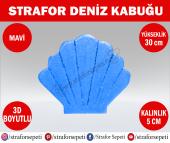 Strafor Sepeti - Strafor Deniz Kabuğu 30 cm mavi, Strafor Dekor, Strafor Parti, Strafor Doğum Günü