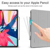 iPad Pro 11 Kılıf, ESR Yippee pencil holder,Silver Gray-4
