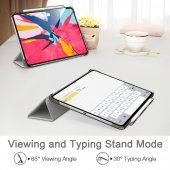 iPad Pro 11 Kılıf, ESR Yippee pencil holder,Silver Gray-5