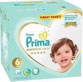 Prima Premium Care 6 Numara Bebek Bezi (13+) 62 adet Fırsat Paketi , Ücretsiz Kargo
