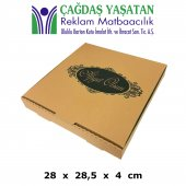 28 X 28 Pizza Kutusu (100 Adet) 022