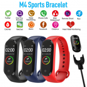 M4 Akıllı Bileklik Kol Bandı Fitness Saat Renkli Ekran Adım Sayar Nabız Kalori Ölçer İOS & Android Uyumlu-3