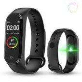 M4 Akıllı Bileklik Kol Bandı Fitness Saat Renkli Ekran Adım Sayar Nabız Kalori Ölçer İOS & Android Uyumlu-4