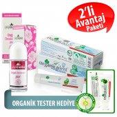 Organicadent Florürsüz Organik Diş Macunu 50 ml Doğal Gül Rolon Hediye B