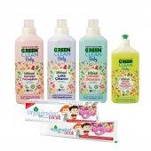 Organicadent Florürsüz Doğal Çocuk Diş Macunu 50 ml Ugreen Baby 4lü Temizlik Seti Hediye