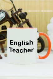 English Teacher Kupa Bardak Turuncu