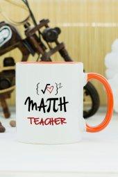 Math Teacher Kupa Bardak Turuncu