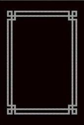 Siyah Gri Yıkanabilir İnce Yazlık Halı Hs81209