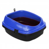 Derin Kedi Tuvalet Kabı 49*40*22 Cm Mavi