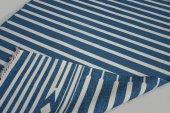 Mavi Çift Taraflı Yıkanabilir İnce Yazlık Kilim Hs81005