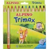 Alpino Trimax Jumbo Kuru Boya Kalemi 12'li