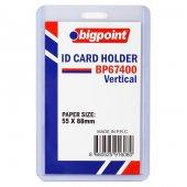 Bigpoint Kart Kabı Dikey Şeffaf 55x88mm