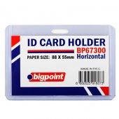 Bigpoint Kart Kabı Yatay Şeffaf 88x55mm