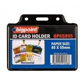Bigpoint Kart Poşeti Yatay Siyah 85x55mm