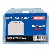 Bigpoint Kart Kabı Yatay Şeffaf 85x54mm
