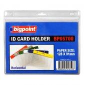 Bigpoint Kart Poşeti Yatay Şeffaf 128x91mm