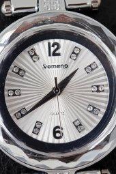 Vomeno Silver Top Zincir Kordon Şık Kadın Kol Saati-3
