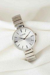 Silver Renk Metal Kordonlu Yeni Sezon Beyaz Renk İç Tasarımlı Bayan Clariss Marka Kol Saati