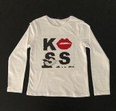 Beyaz Renkli Figürlü Kız Çocuk Sweatshirt K039