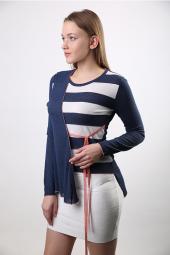 Sweater Bisiklet Yaka Kadın Yazlık Triko 3110