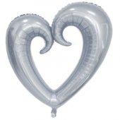Içi Boş Kalp Silver Balon