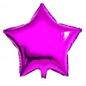 Yıldız Fuşya Folyo Balon 55 Cm