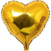 Kalp Folyo Gold Balon 55 Cm