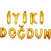 Iyi Ki Doğdun Yazılı Gold Folyo Harfli Balon