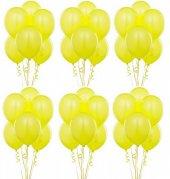Sarı Metalik Sedefli Lateks Balon 100 Adet
